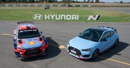 Hyundai Argentina realizó la nueva campaña de Veloster N con Neuville y el equipo de Rally